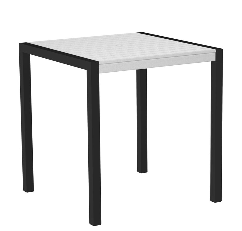 "8101-12WH MOD 36"" Counter Table in Textured Black and White"