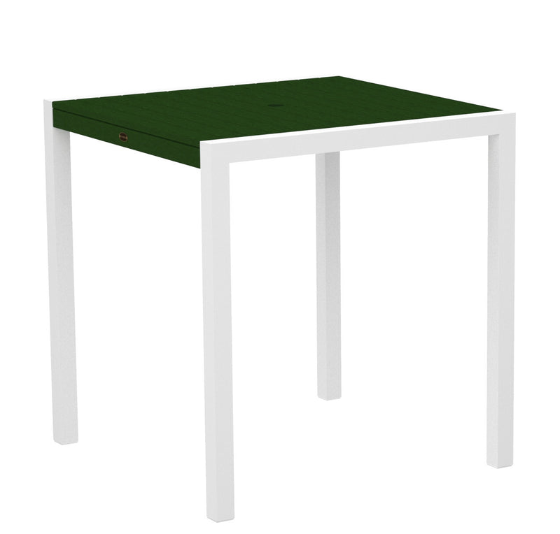"8101-13GR MOD 36"" Counter Table in Satin White and Green"