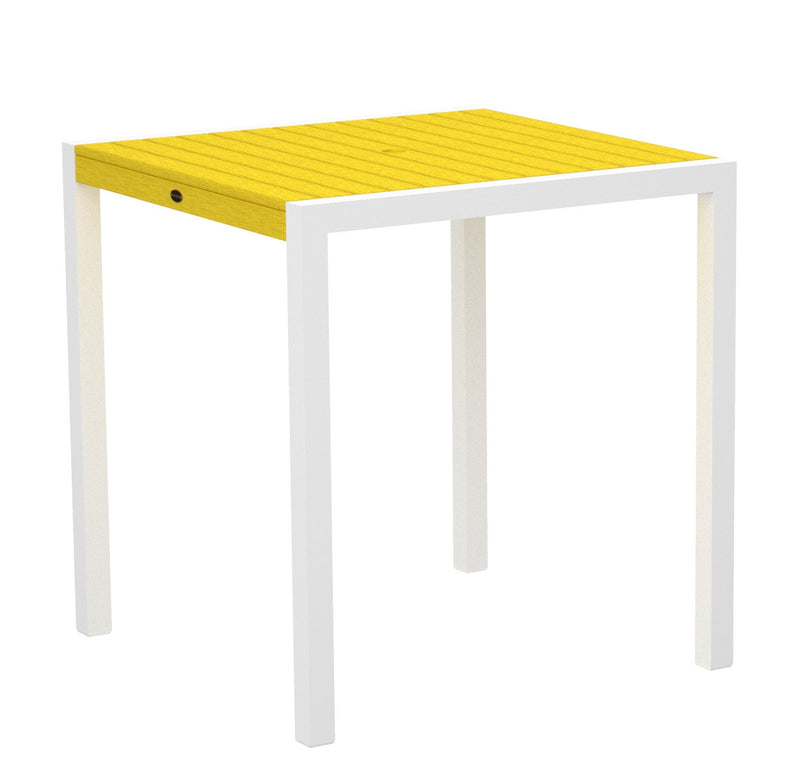 "8101-13LE MOD 36"" Counter Table in Satin White and Lemon"