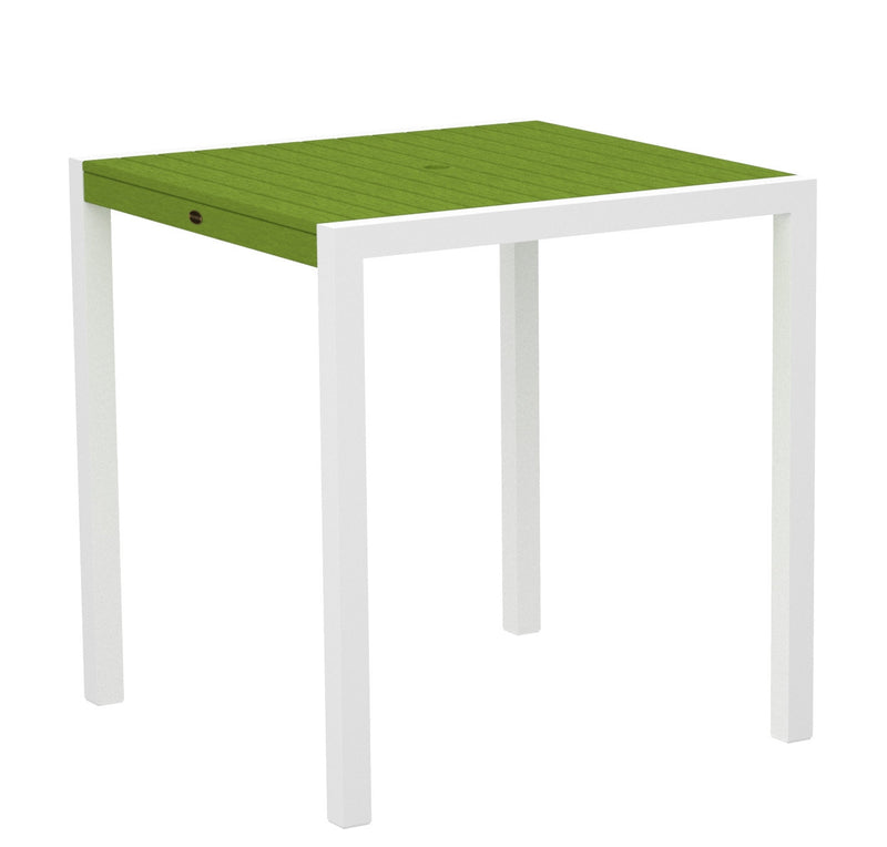 "8101-13LI MOD 36"" Counter Table in Satin White and Lime"