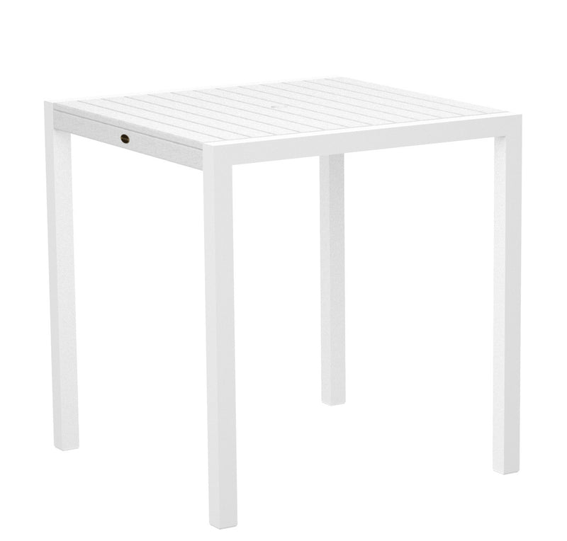 "8101-13WH MOD 36"" Counter Table in Satin White and White"
