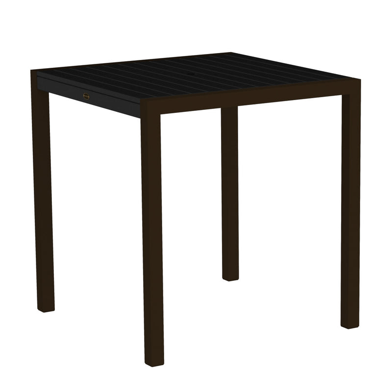 "8101-16BL MOD 36"" Counter Table in Textured Bronze and Black"