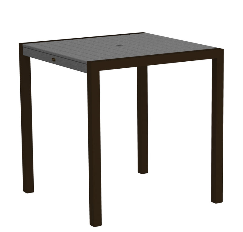 "8101-16GY MOD 36"" Counter Table in Textured Bronze and Slate Grey"