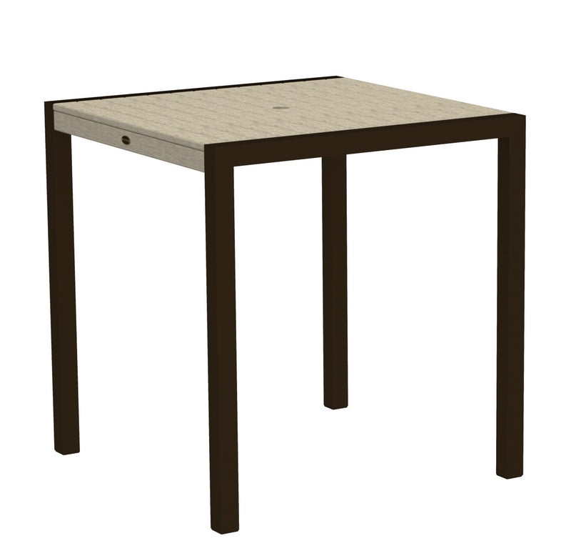 "8101-16SA MOD 36"" Counter Table in Textured Bronze and Sand"