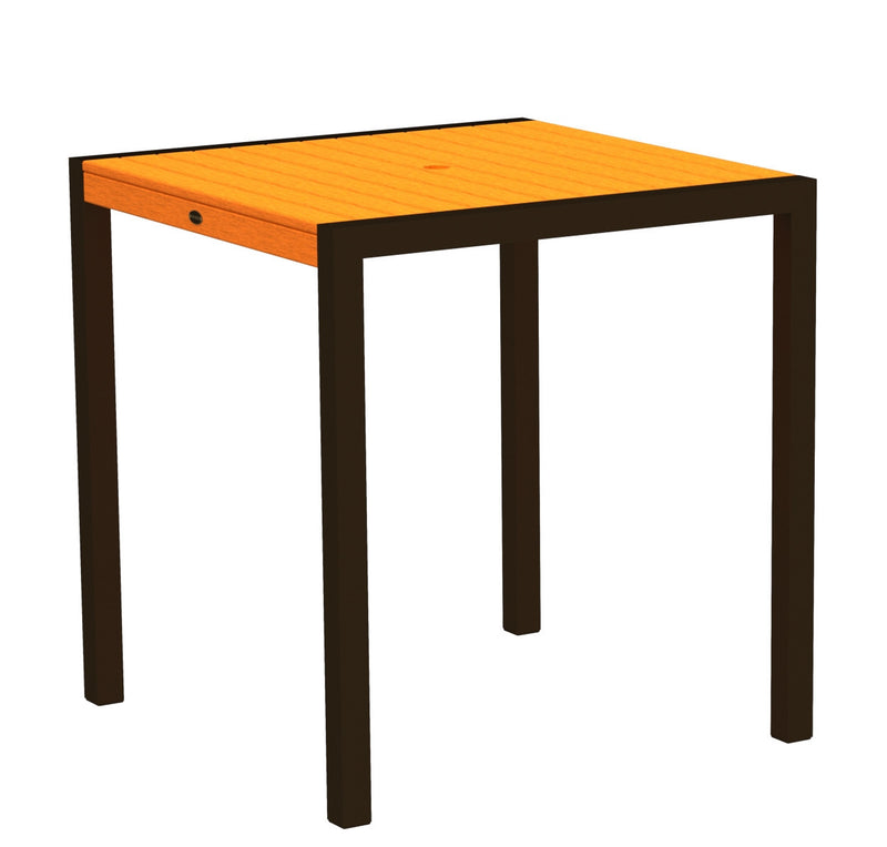 "8101-16TA MOD 36"" Counter Table in Textured Bronze and Tangerine"