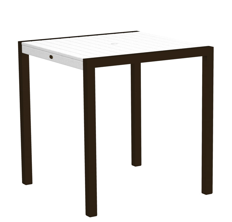 "8101-16WH MOD 36"" Counter Table in Textured Bronze and White"