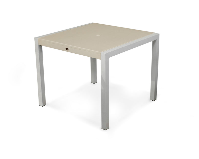 "8120-11MSA MOD SOLID 36"" Dining Table in Textured Silver and Sand"
