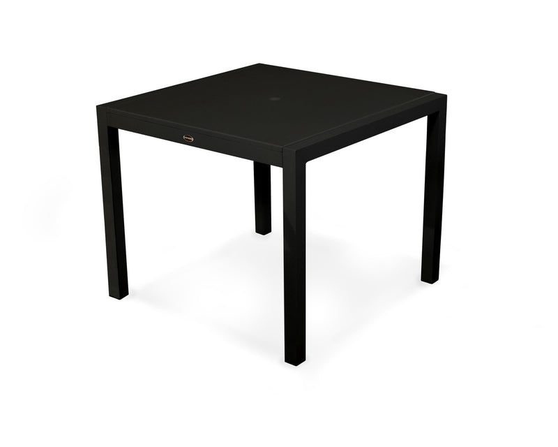 "8120-12MBL MOD SOLID 36"" Dining Table in Textured Black and Black"