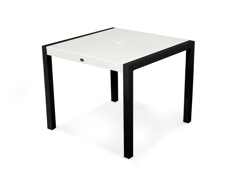 "8120-12MWH MOD SOLID 36"" Dining Table in Textured Black and White"