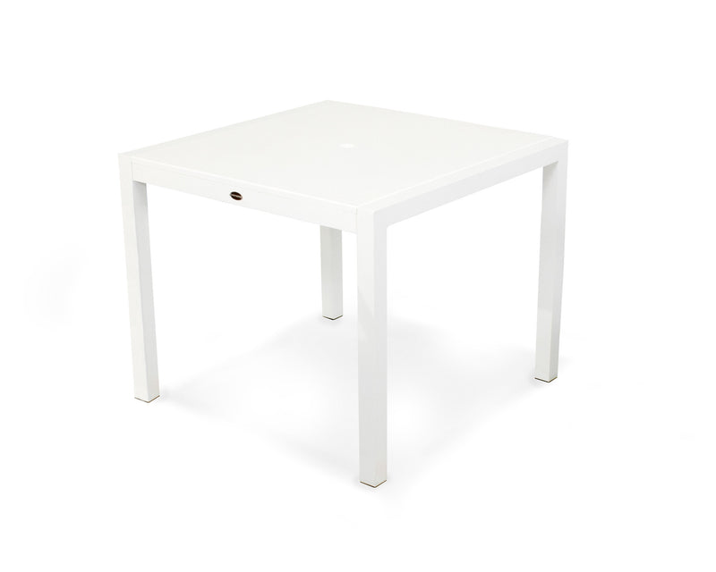 "8120-13MWH MOD SOLID 36"" Dining Table in Satin White and White"