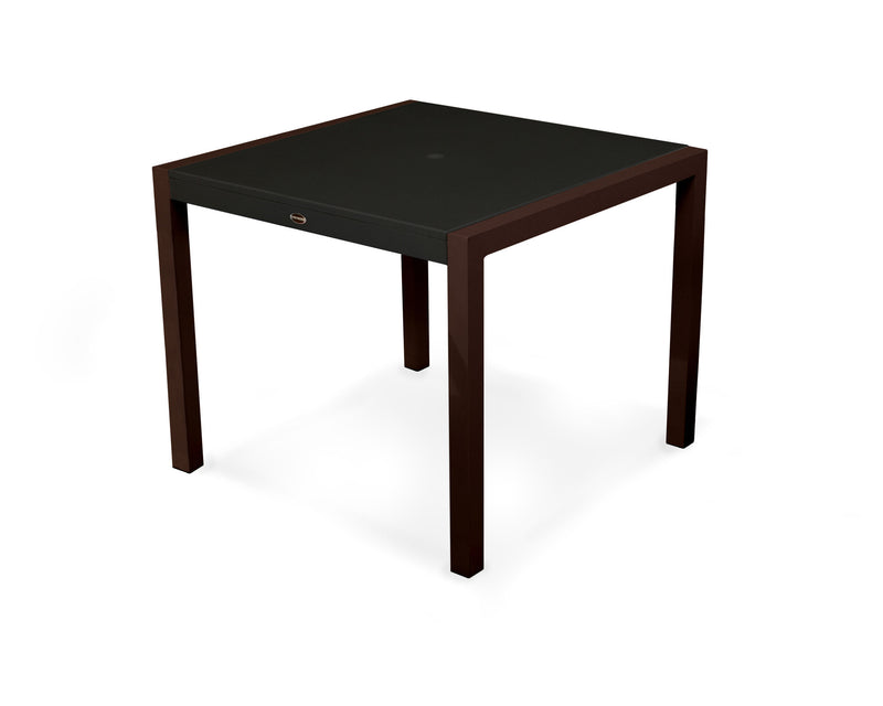 "8120-16MBL MOD SOLID 36"" Dining Table in Textured Bronze and Black"
