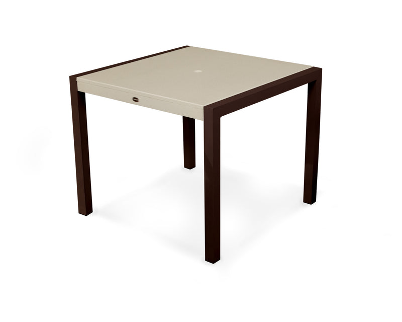 "8120-16MSA MOD SOLID 36"" Dining Table in Textured Bronze and Sand"