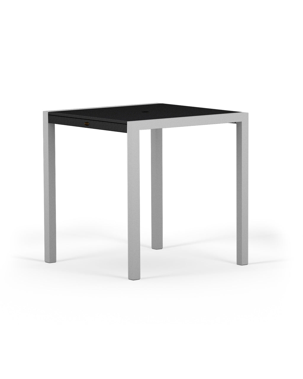 "8121-11MBL MOD SOLID 36"" Counter Table in Textured Silver and Black"