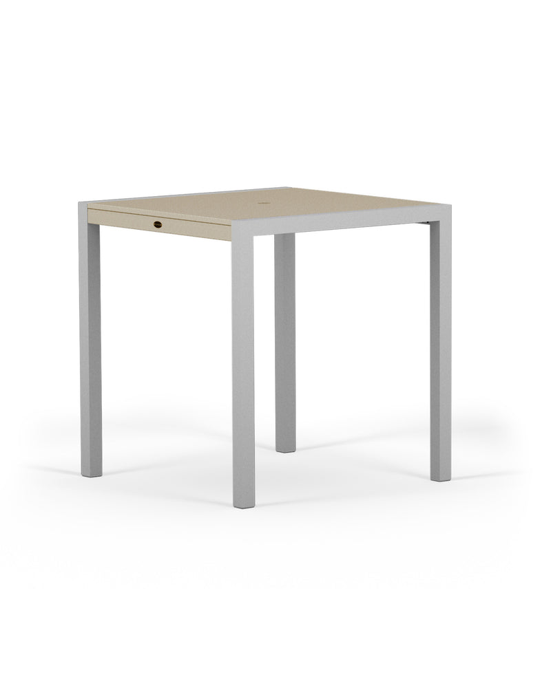 "8121-11MSA MOD SOLID 36"" Counter Table in Textured Silver and Sand"
