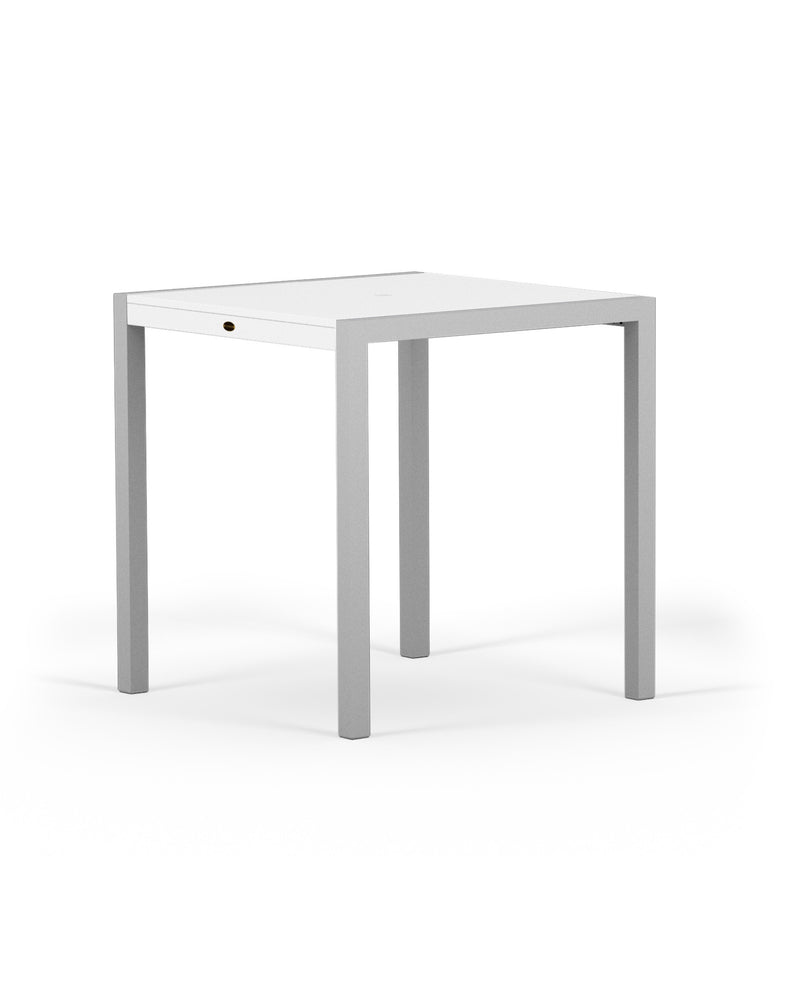 "8121-11MWH MOD SOLID 36"" Counter Table in Textured Silver and White"