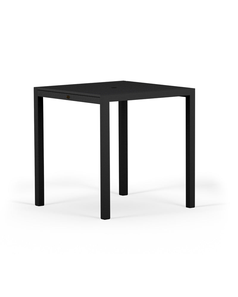 "8121-12MBL MOD SOLID 36"" Counter Table in Textured Black and Black"