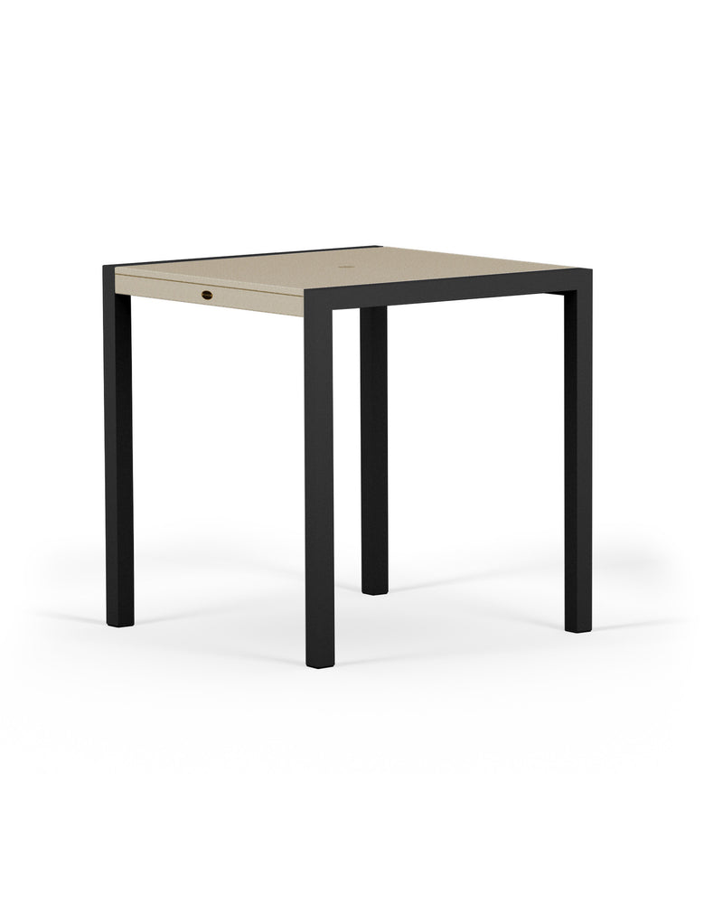 "8121-12MSA MOD SOLID 36"" Counter Table in Textured Black and Sand"