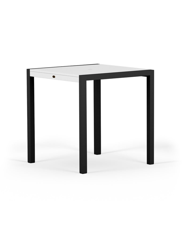 "8121-12MWH MOD SOLID 36"" Counter Table in Textured Black and White"