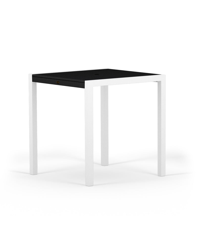 "8121-13MBL MOD SOLID 36"" Counter Table in Satin White and Black"
