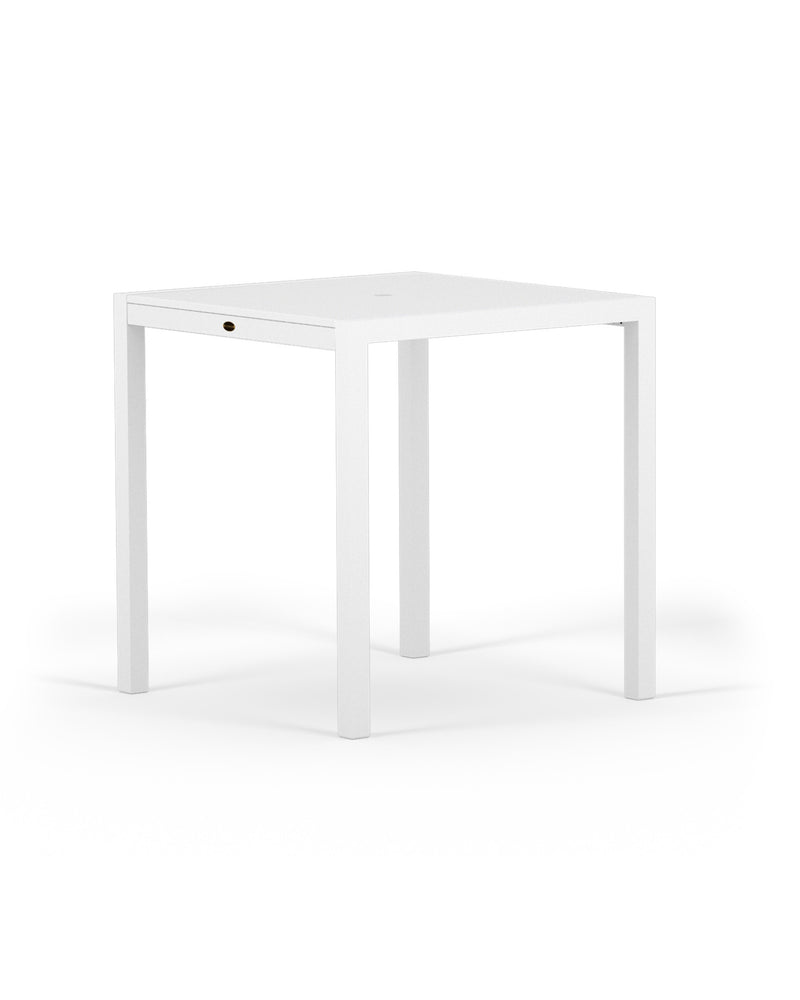 "8121-13MWH MOD SOLID 36"" Counter Table in Satin White and White"