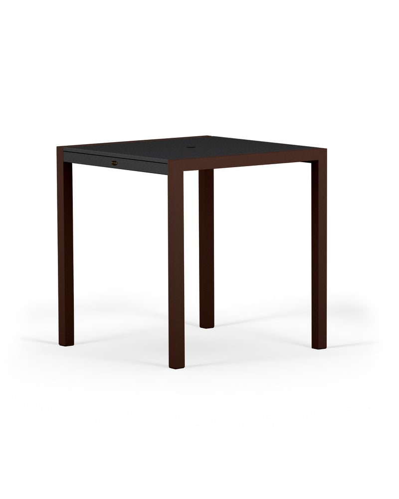 "8121-16MBL MOD SOLID 36"" Counter Table in Textured Bronze and Black"