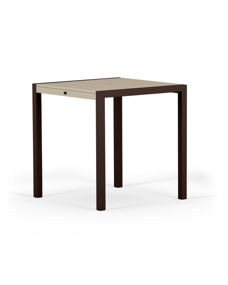 "8121-16MSA MOD SOLID 36"" Counter Table in Textured Bronze and Sand"