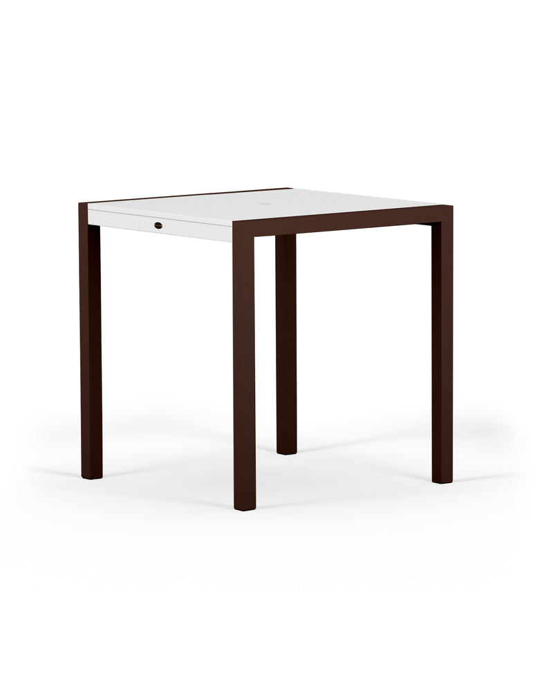"8121-16MWH MOD SOLID 36"" Counter Table in Textured Bronze and White"