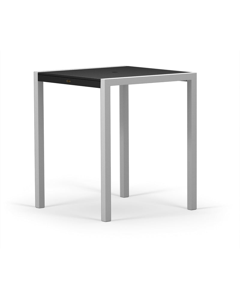 "8122-11MBL MOD SOLID 36"" Bar Table in Textured Silver and Black"