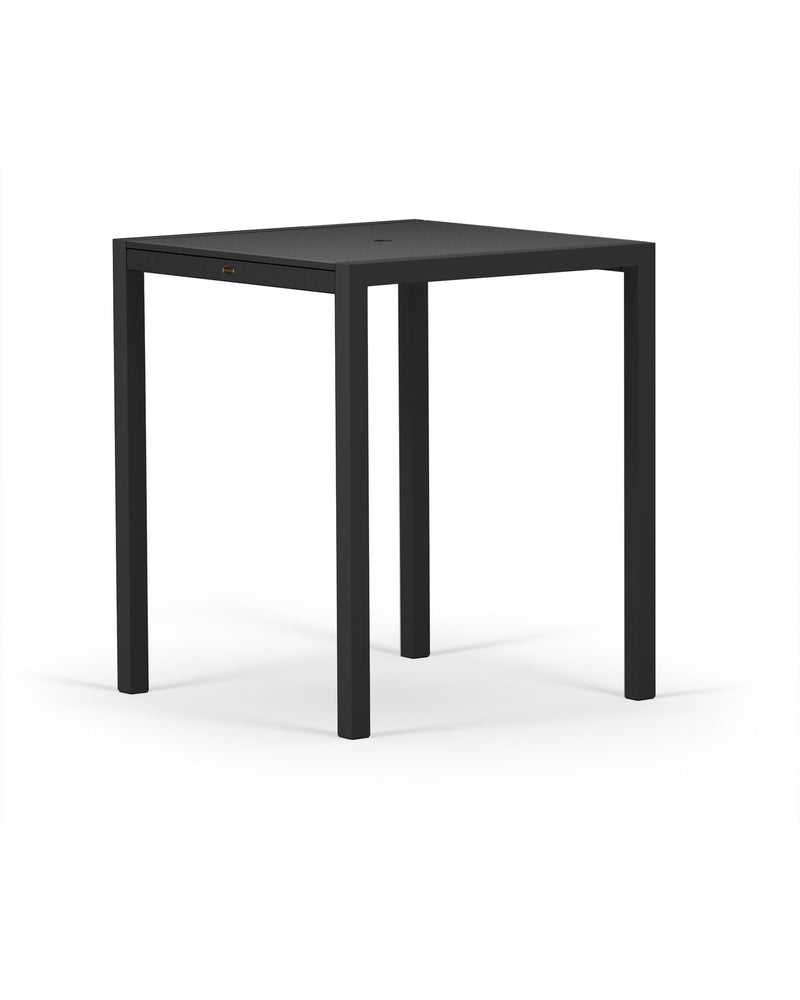 "8122-12MBL MOD SOLID 36"" Bar Table in Textured Black and Black"