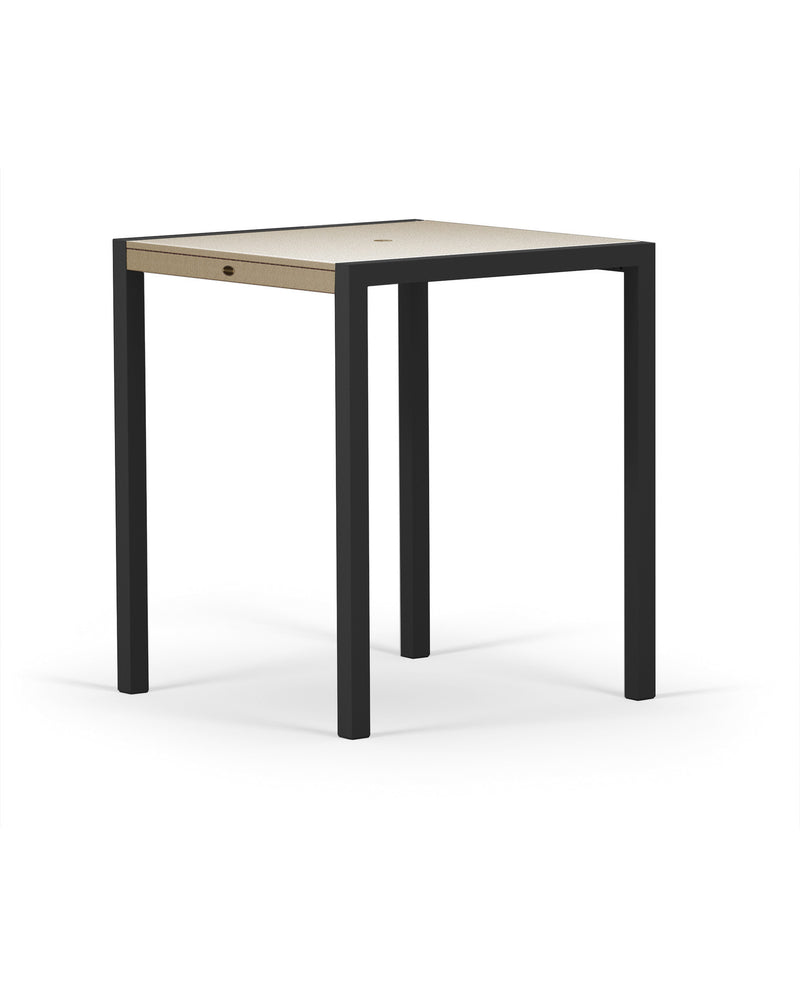"8122-12MSA MOD SOLID 36"" Bar Table in Textured Black and Sand"