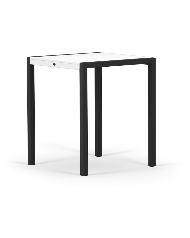 "8122-12MWH MOD SOLID 36"" Bar Table in Textured Black and White"