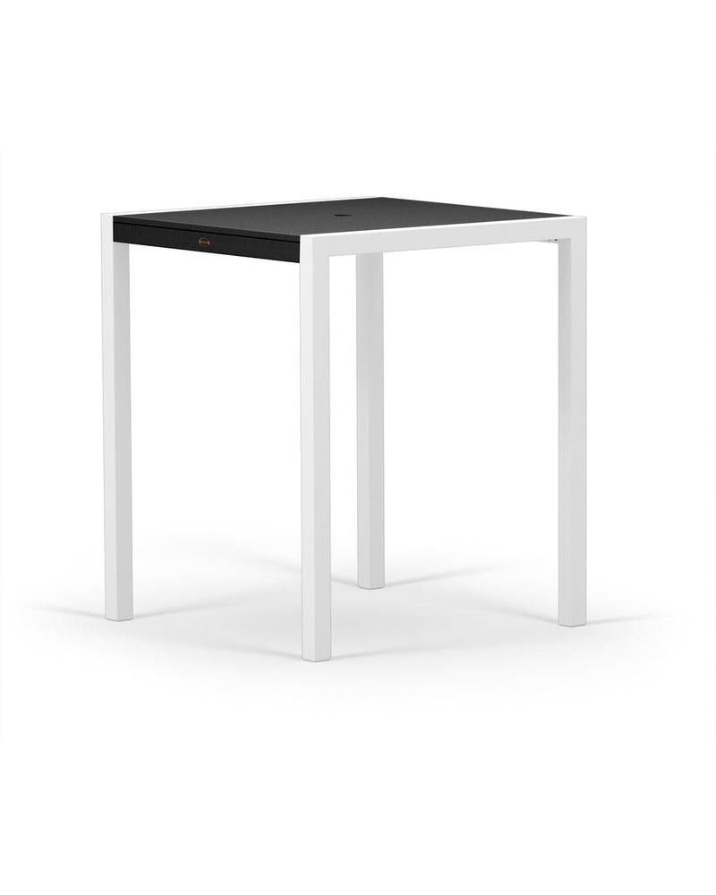 "8122-13MBL MOD SOLID 36"" Bar Table in Satin White and Black"