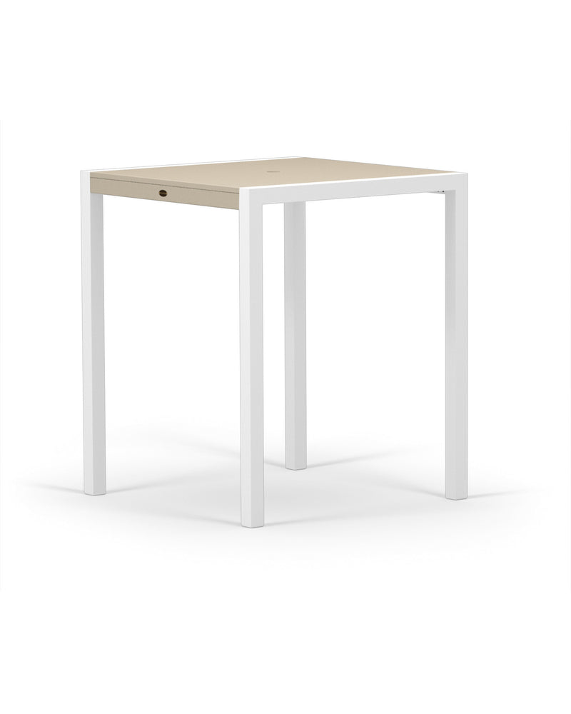 "8122-13MSA MOD SOLID 36"" Bar Table in Satin White and Sand"