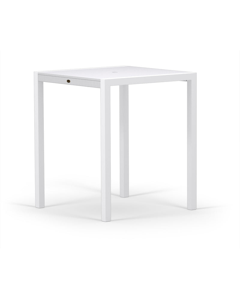 "8122-13MWH MOD SOLID 36"" Bar Table in Satin White and White"