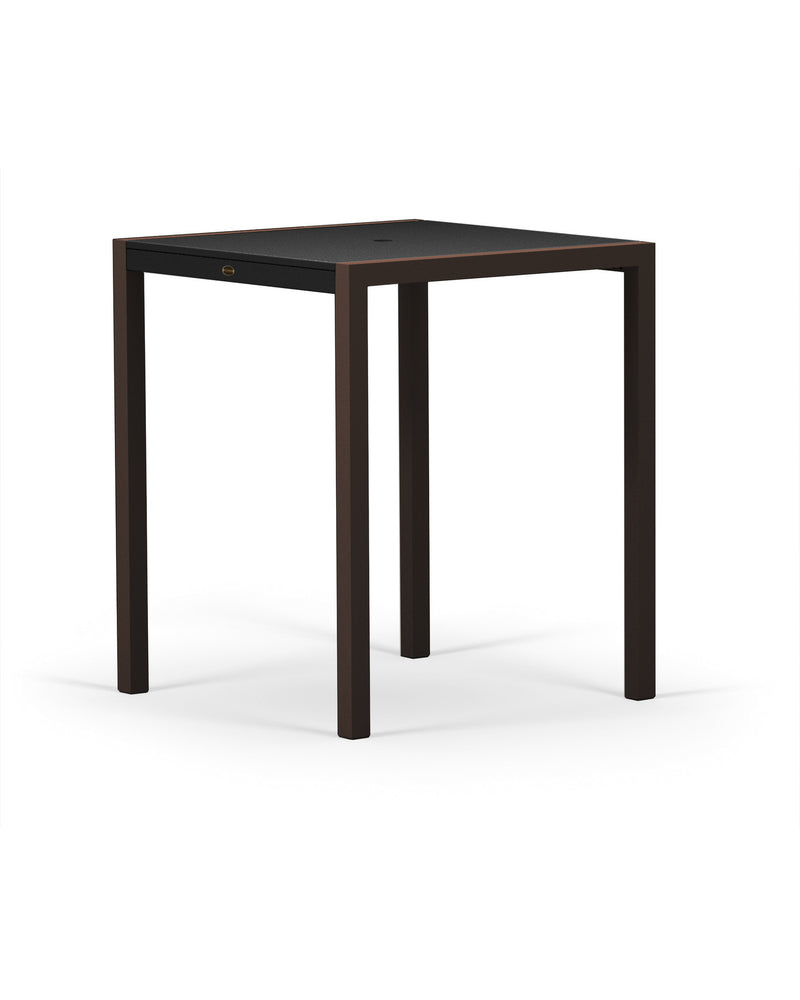"8122-16MBL MOD SOLID 36"" Bar Table in Textured Bronze and Black"
