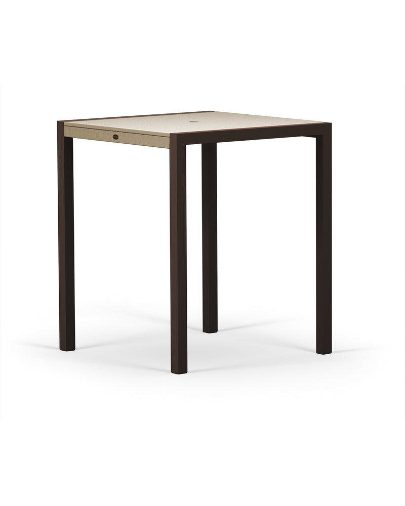 "8122-16MSA MOD SOLID 36"" Bar Table in Textured Bronze and Sand"