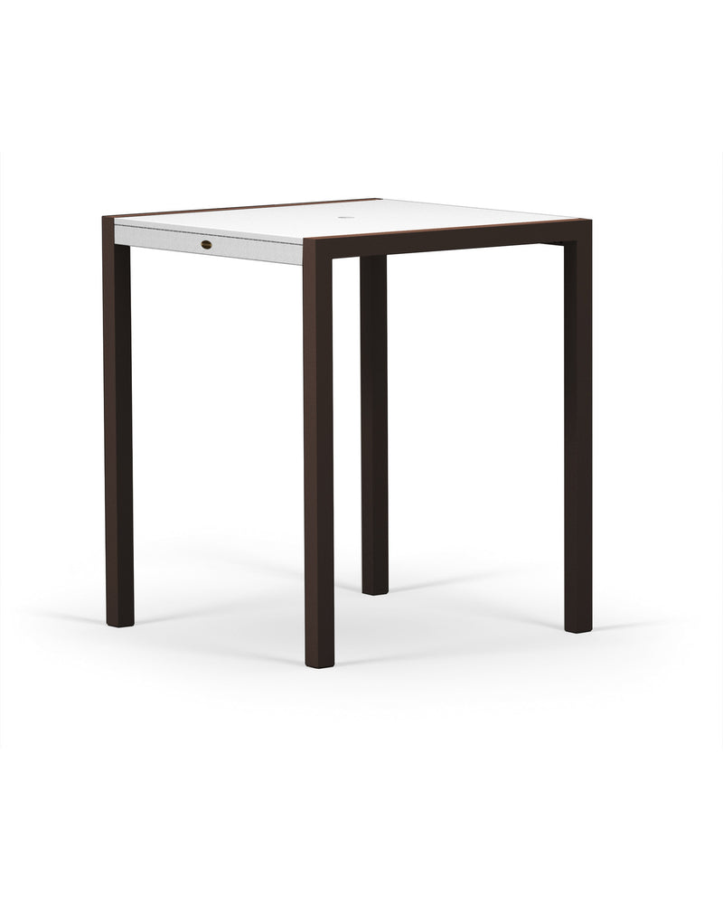 "8122-16MWH MOD SOLID 36"" Bar Table in Textured Bronze and White"