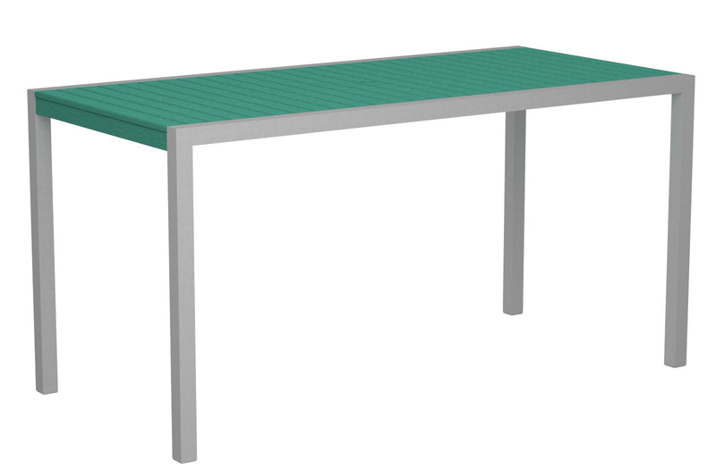 "8301-11AR MOD 36"" x 73"" Counter Table in Textured Silver and Aruba"