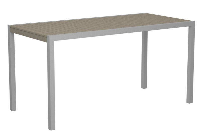 "8301-11SA MOD 36"" x 73"" Counter Table in Textured Silver and Sand"