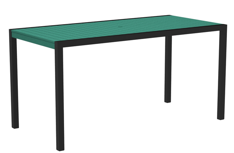"8301-12AR MOD 36"" x 73"" Counter Table in Textured Black and Aruba"