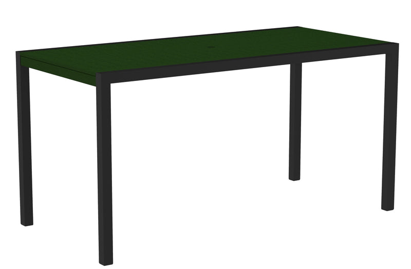 "8301-12GR MOD 36"" x 73"" Counter Table in Textured Black and Green"