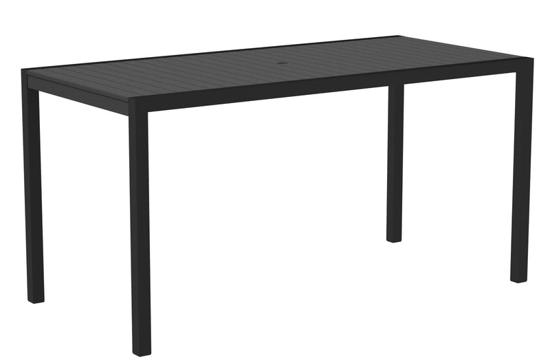 "8301-12GY MOD 36"" x 73"" Counter Table in Textured Black and Slate Grey"