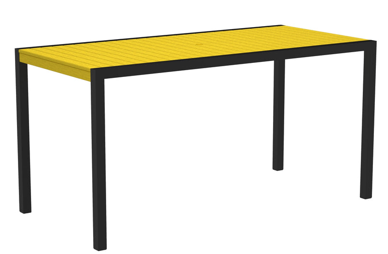 "8301-12LE MOD 36"" x 73"" Counter Table in Textured Black and Lemon"