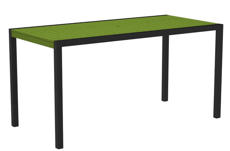 "8301-12LI MOD 36"" x 73"" Counter Table in Textured Black and Lime"