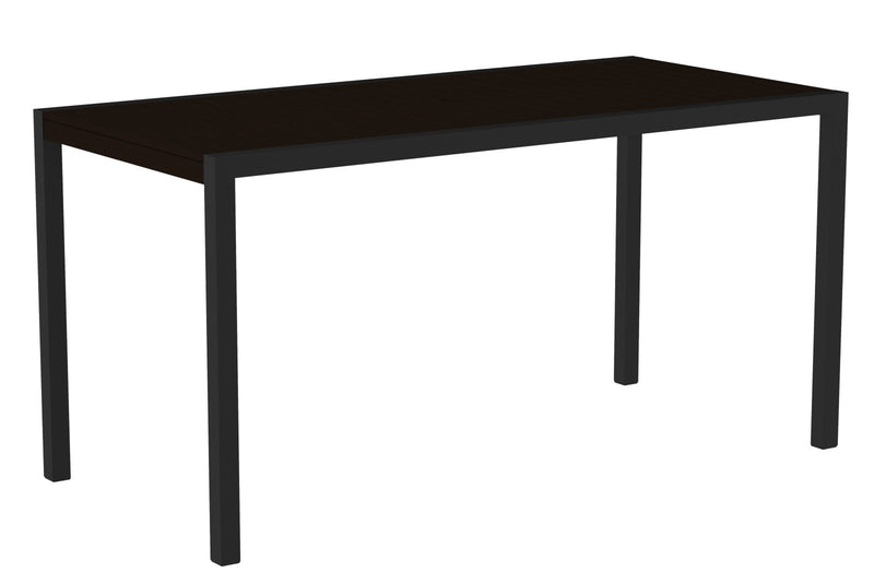 "8301-12MA MOD 36"" x 73"" Counter Table in Textured Black and Mahogany"