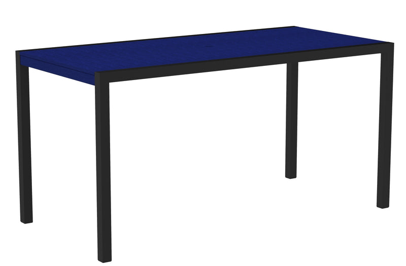 "8301-12PB MOD 36"" x 73"" Counter Table in Textured Black and Pacific Blue"
