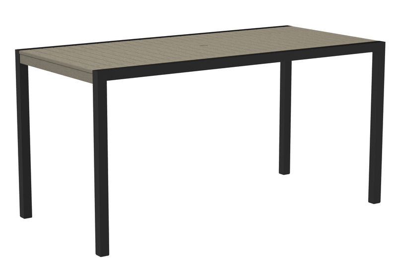"8301-12SA MOD 36"" x 73"" Counter Table in Textured Black and Sand"