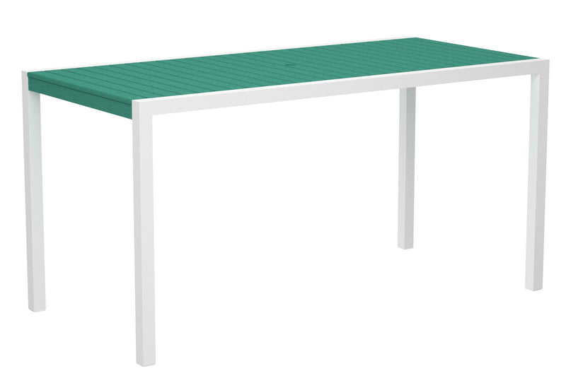 "8301-13AR MOD 36"" x 73"" Counter Table in Satin White and Aruba"