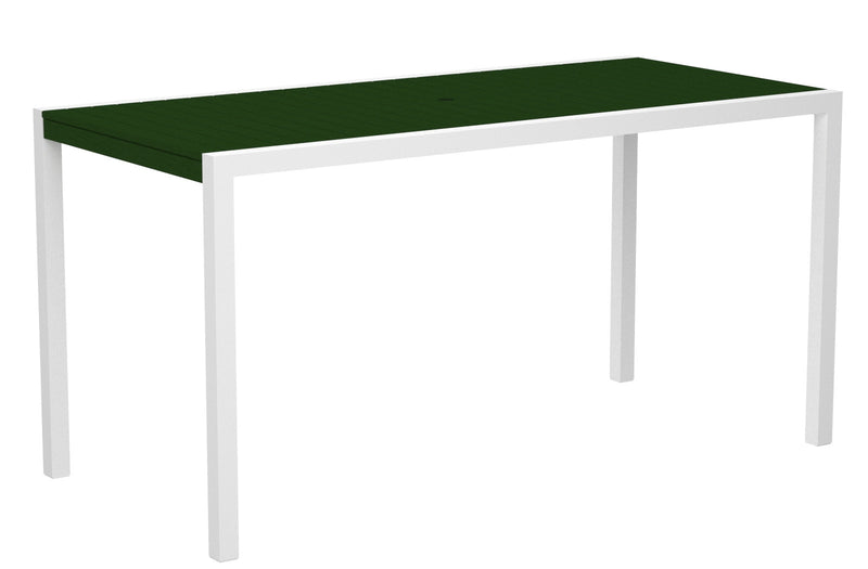 "8301-13GR MOD 36"" x 73"" Counter Table in Satin White and Green"