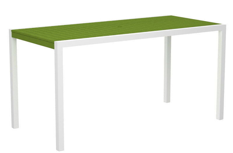 "8301-13LI MOD 36"" x 73"" Counter Table in Satin White and Lime"